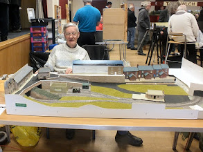 Photo: 019 Rowland Sutton with his developing preservation era 009 layout The Senga Line .