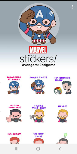 Screenshot for Avengers: Endgame Stickers in United States Play Store