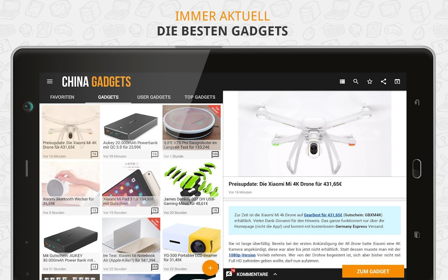 China Gadgets - Die Gadget App- screenshot