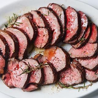 Roast Beef Tenderloin with Garlic and Rosemary.