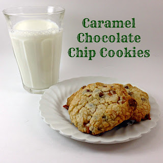 Caramel Chocolate Chip Cookies.