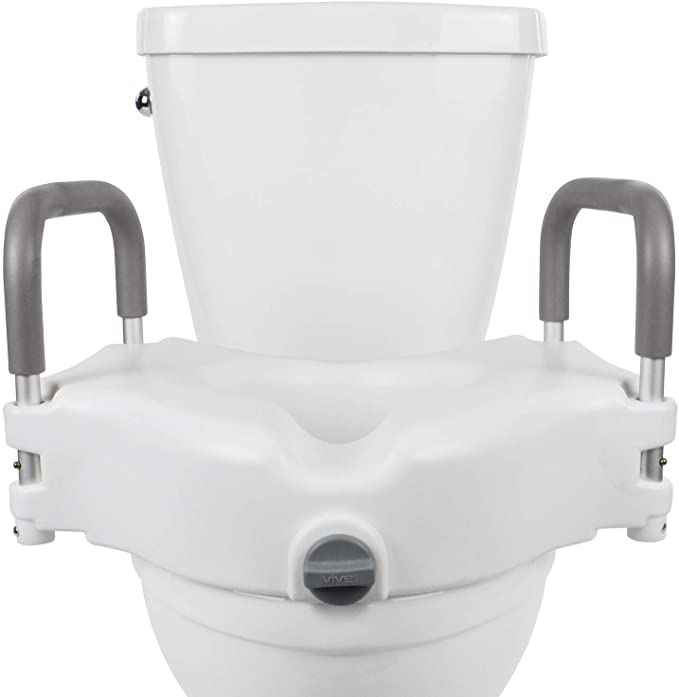Vive Toilet Seat Height Extenders Seat