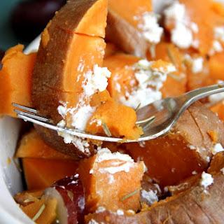 Rosemary & Goat Cheese Sweet Potatoes