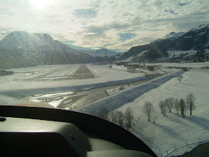 Photo: Nice view! Perfectly aligned with the runway http://www.swiss-flight.net