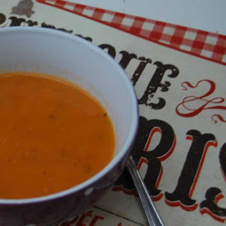 Curried Tomato-Carrot Soup with Coconut Milk.