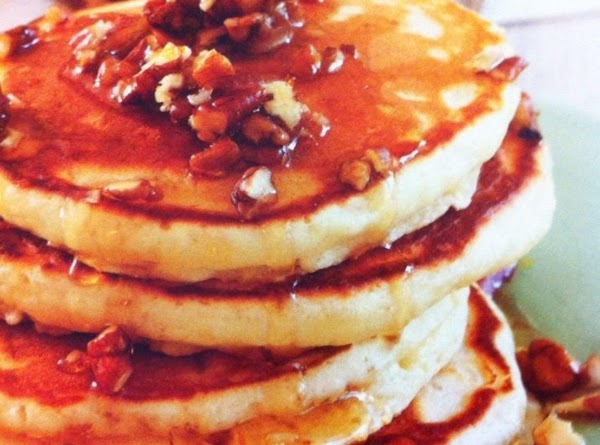My Buttermilk Pancakes With Maple-pecan Syrup Recipe