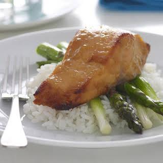 Glazed Miso Salmon with Asparagus.