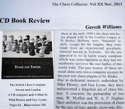 Photo: Gareth Williams kindly reviewed this work for the CCI Magazine  VOL XX No 1. 2011  see next image for the completion of the  written text .