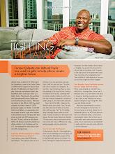 Photo: Advertorial shot for Sports Illustrated Magazine. Portrait of former Orlando Magic center Adonal Foyle.