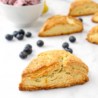 Lemon Cream Scones with Vanilla Berry Butter