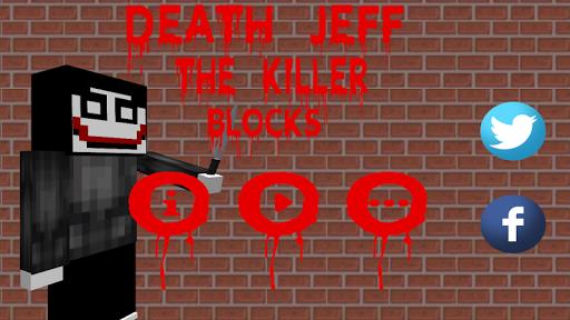 Death Jeff The Killer Blocks  captures d'écran 1
