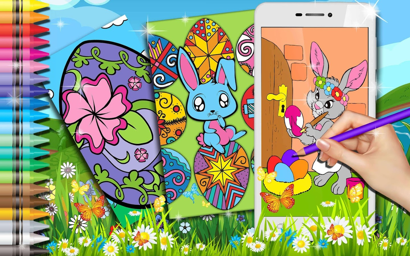 Cute Coloring Books for Easter- screenshot
