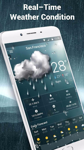 Transparent Live Weather Widge  screenshots 4