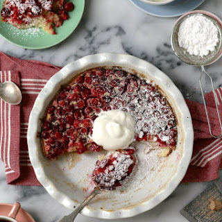 Cranberry Orange and Cream Clafoutis