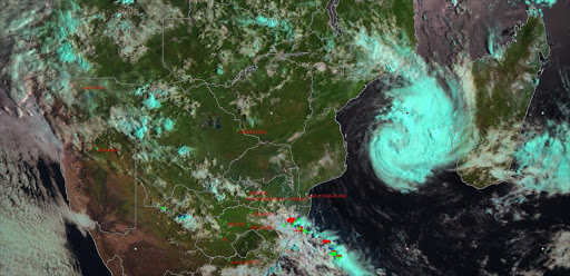 Tropical storm Dineo.