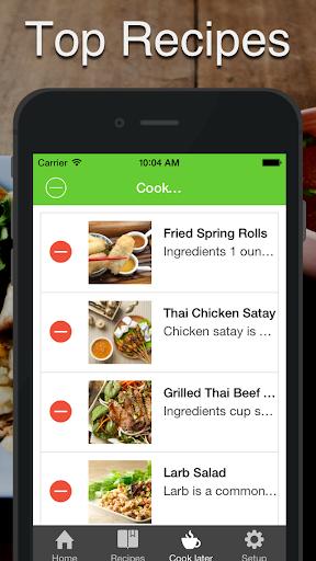 泰國 食品。快速輕鬆地烹飪。最佳美食傳統配方和經典菜餚。食譜|玩健康App免費|玩APPs