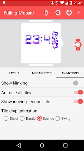 Falling Mosaic - Watch Face- screenshot thumbnail