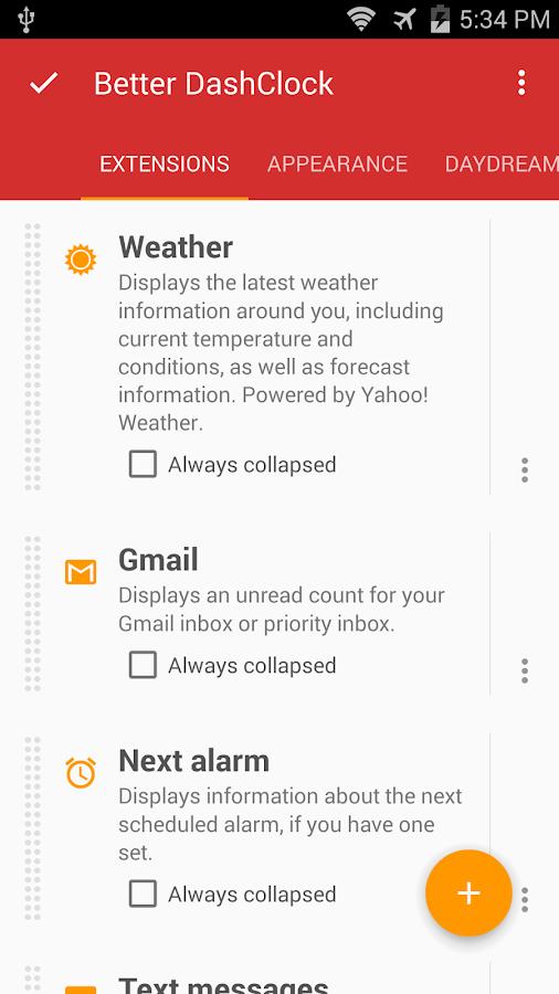 Better DashClock Widget- screenshot