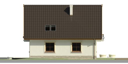 Dom przy Cyprysowej 43 - Elewacja lewa