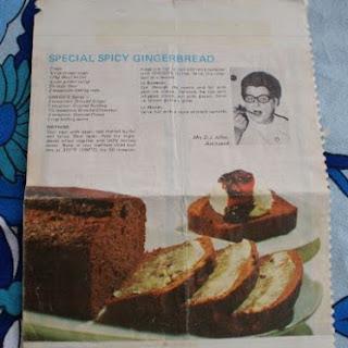 Mrs Allen's Special Spicy Gingerbread