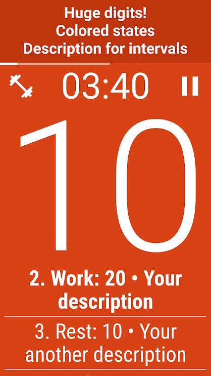 Tabata timer: Interval timer Workout Timer HIIT v3 6 1