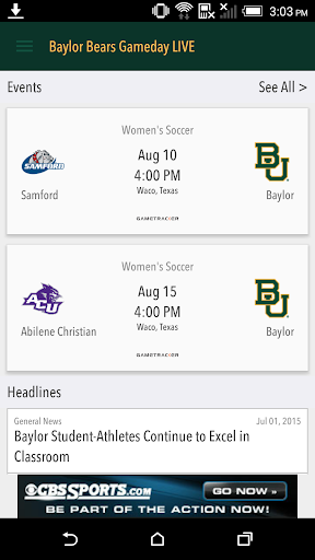 Baylor Bears Gameday LIVE