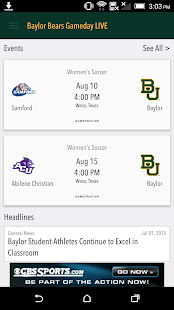 Baylor Bears Gameday LIVE- screenshot thumbnail