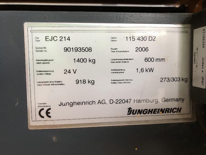 Picture of a JUNGHEINRICH EJC 214
