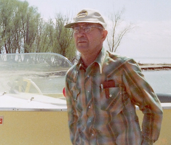 Photo: Dad and his little yellow fishin' boat