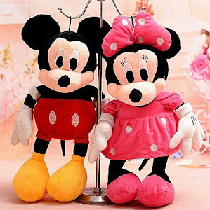Jucarie Minnie Mouse sau Mickey Mouse 30 cm