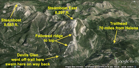Photo: The peak of Steamboat East is 16.4 miles SSW of Augusta.