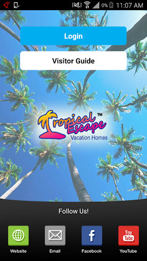 Tropical Escape Guest App