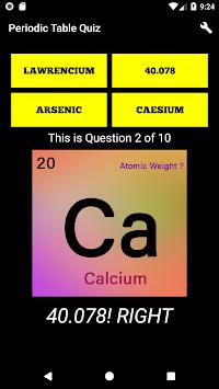 Periodic table quiz chemistry elements 2018 apk latest version periodic table quiz chemistry elements 2018 poster urtaz Gallery