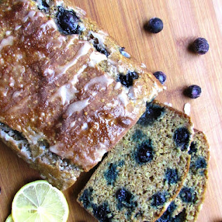 Blueberry Quinoa Bread with Lemon Glaze