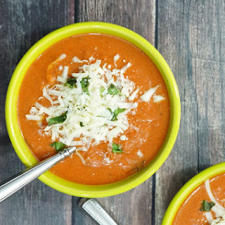 Lightened Up Creamy Tomato Basil Soup