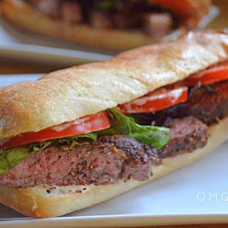Steak Sandwich With Lemon Basil Mayo