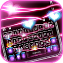 Neon Flash Hearts Keyboard Theme icon