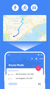 Fake GPS Location - Joystick and Routes Screenshot