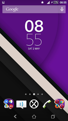 Lollipop Purple Reloaded Theme