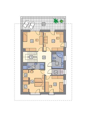 Doborowy - M239 - Rzut piętra