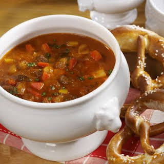 Hungarian Paprika Beef Soup.