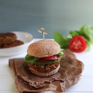 Farro and White Bean Veggie Burgers (Vegan).