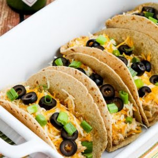 Instant Pot (or Slow Cooker ) Low-Carb Cheesy Chicken Tacos.