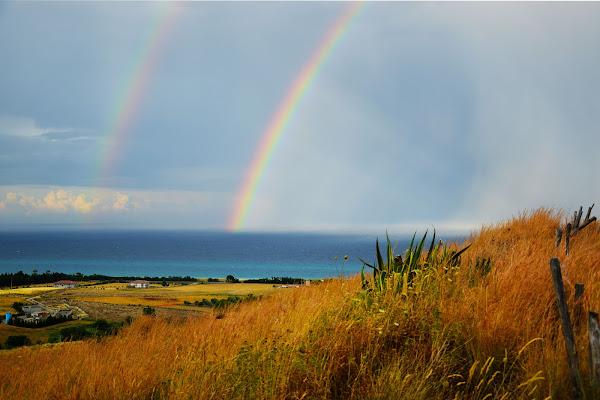 Doppio arcobaleno dopo temporale estivo di Ciappo