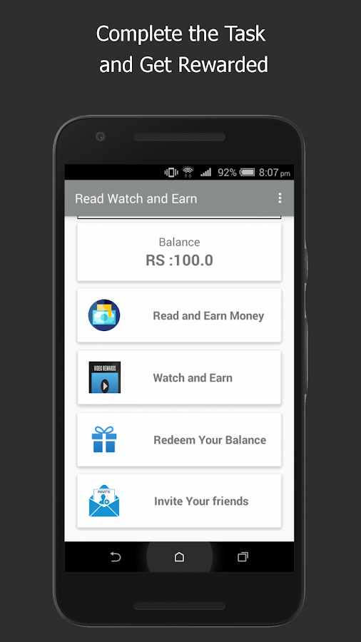 Read Watch &Earn Free Recharge