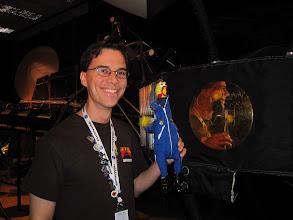 Photo: Mars Rover Driver Scott Maxwell  with NASA Goddard Mascot Camilla Corona of the Solar Dynamics Observatory!