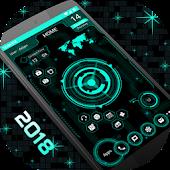 Футуристический UI Launcher 2018 - Hitech Theme