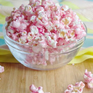Salted Cotton Candy Popcorn with White Chocolate Chips