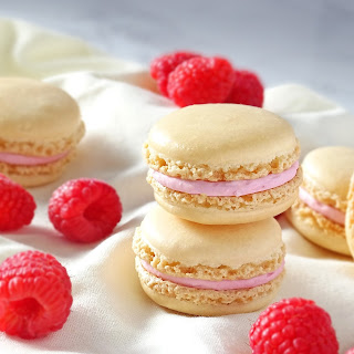 Macarons with Raspberry Filling.