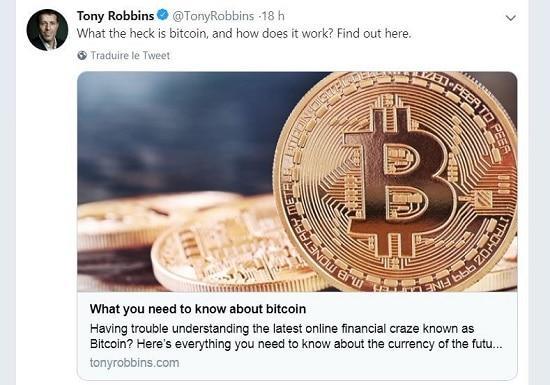 Tony Robbins - bitcoin - cryptomonnaies
